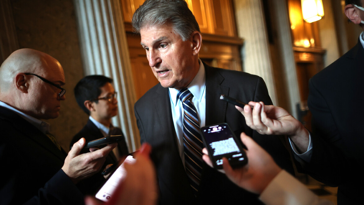 Manchin calls infrastructure bill a 'golden opportunity' but warns against eliminating coal