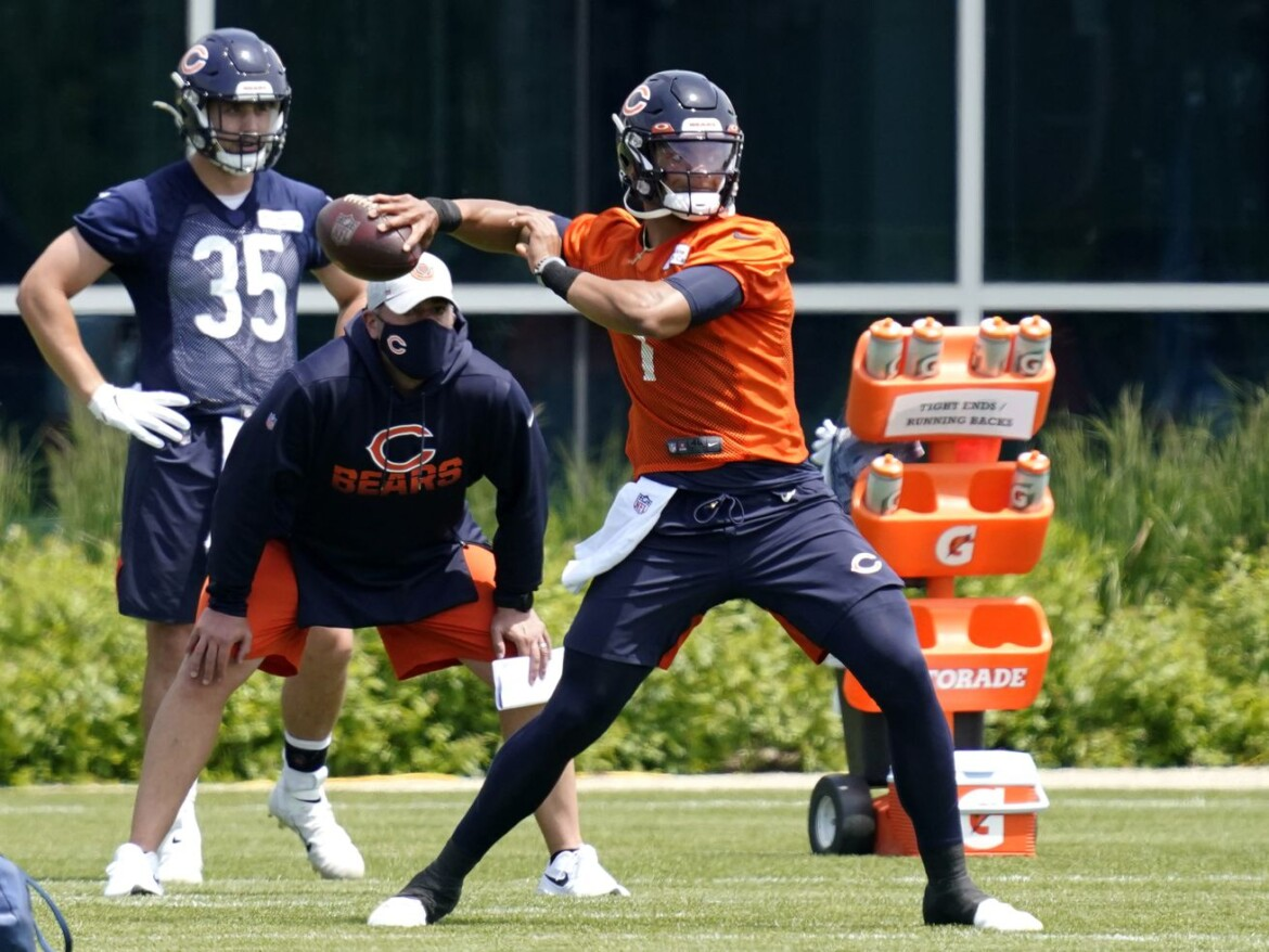 Bears QB Justin Fields is No. 2, with a bullet