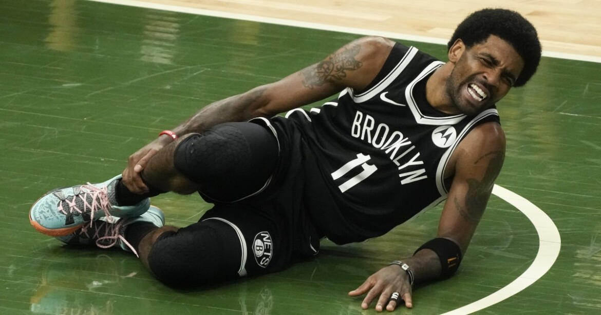 Kyrie Irving injured as Bucks even playoff series with win over Nets