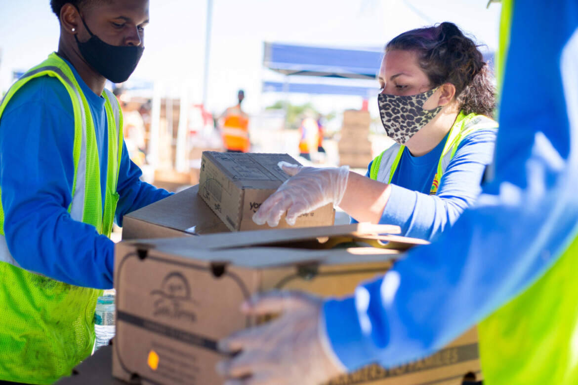 Food Bank teams with Supervisor Barger to distribute food in Lancaster