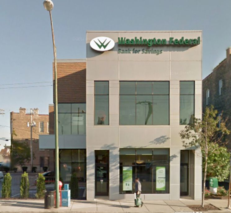 """Washington Federal Bank for Savings, 2869 S. Archer Ave., before it was shut down in December 2017 for """"unsafe or unsound practices"""" days after its president John F. Gembara was found dead at a bank customer's home in what authorities called a suicide."""