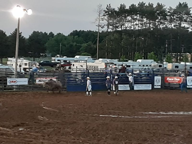 Bull riding in Wisconsin. Provided by Rob Abouchar