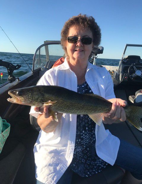 Best friends Rhonda and Billie caught walleye on Mille Lacs. Provided by McQuoids Inn.