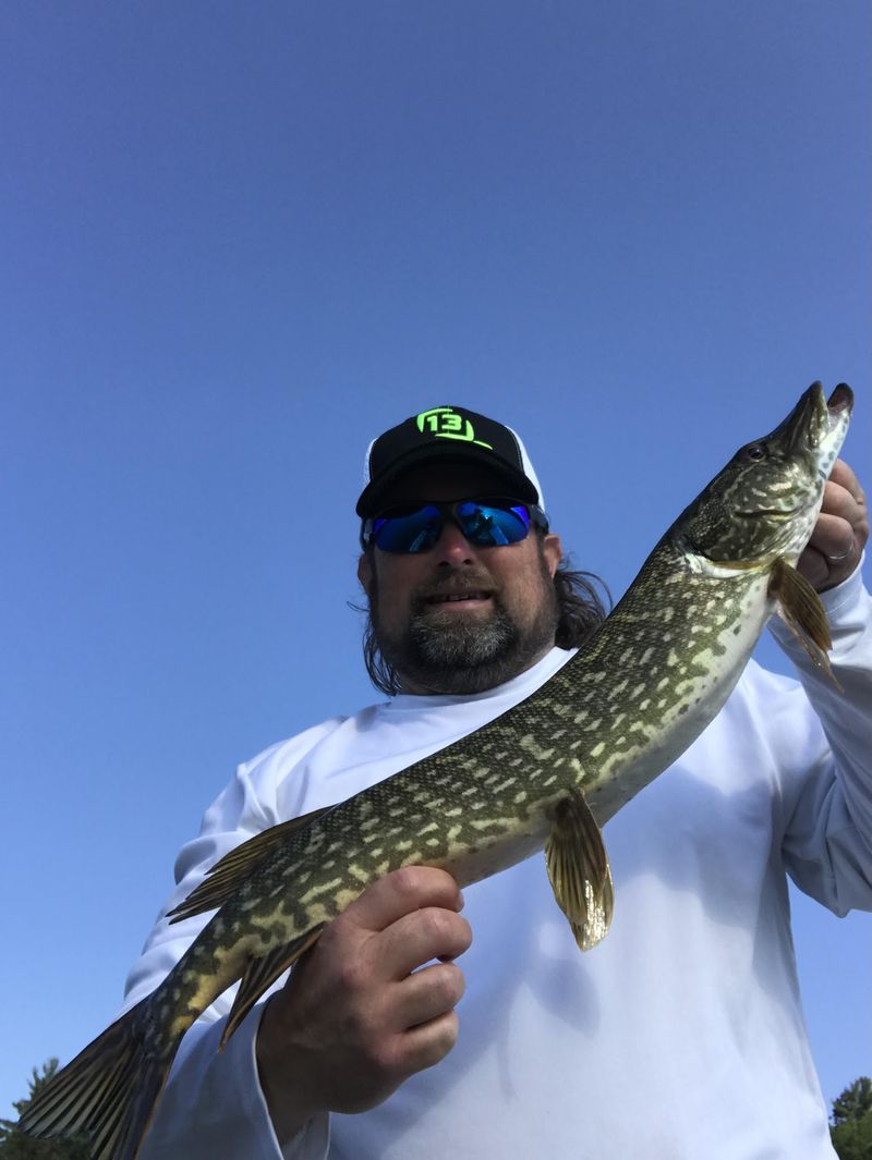 """Ken """"Husker"""" O'Malley found northern pike good early mornings in northern Wisconsin. Provided photo"""