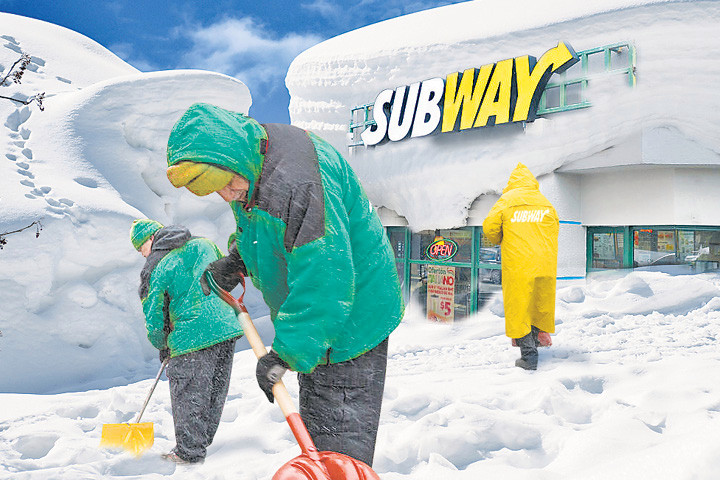 Subway hits franchisees with new snow closure rules