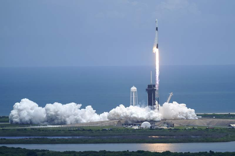 SpaceX launches tiny critters, solar panels to space station