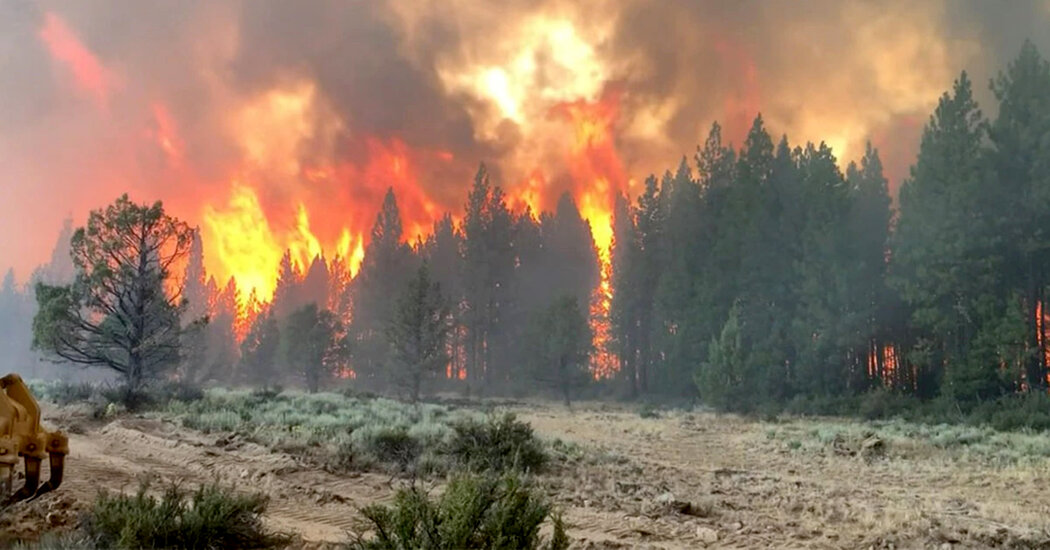 Bootleg Fire in Oregon Scorches 143,000 Acres as Heat Wave Continues in the West