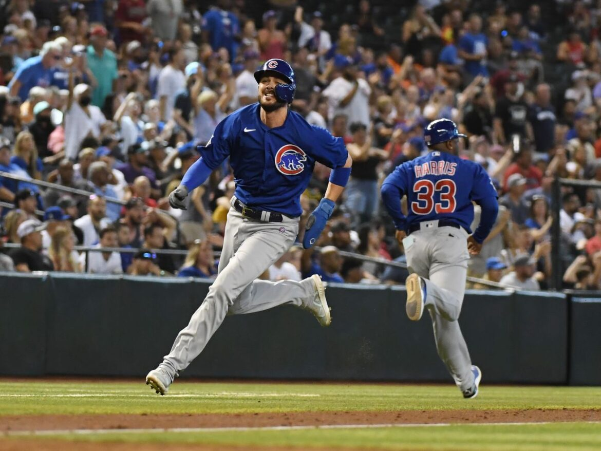 """Kris Bryant doing fine after leaving game with """"heavy legs"""" against the Cardinals"""