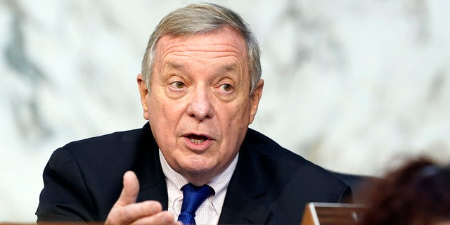 Durbin says he won't 'join that chorus' of Dems calling for Breyer to step down: 'I admire him greatly'