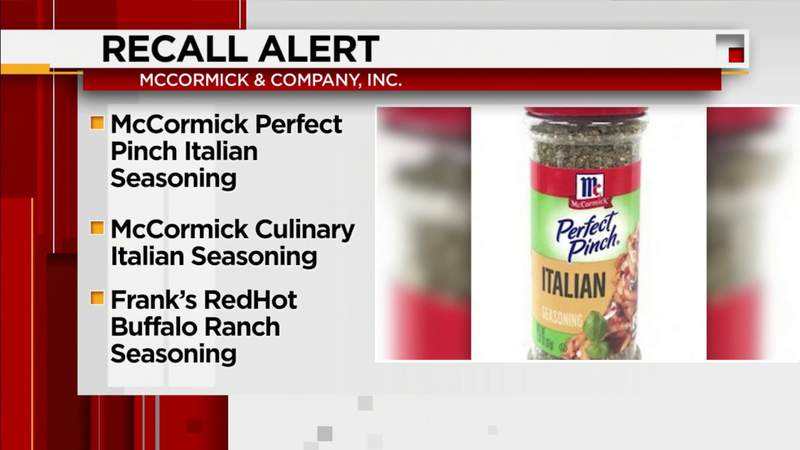 Floridians, check your spice cabinet: McCormick has recalled several seasonings because of salmonella risk