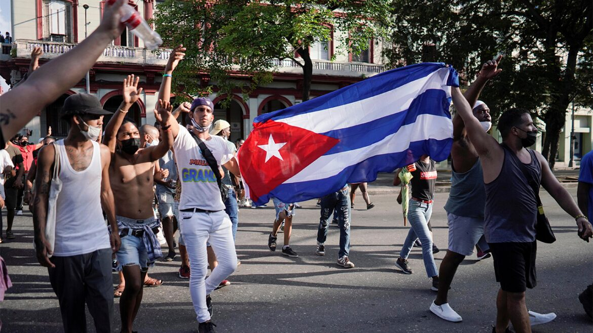 Watch: American flags fly high in opposition of Cuba's communist government