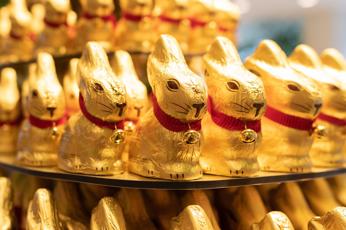Lindt's gold Easter bunny wrappers are now a protected trademark