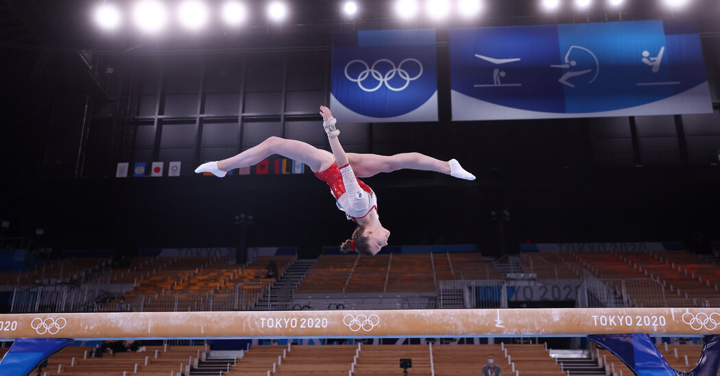 A look at the Russian gymnasts.