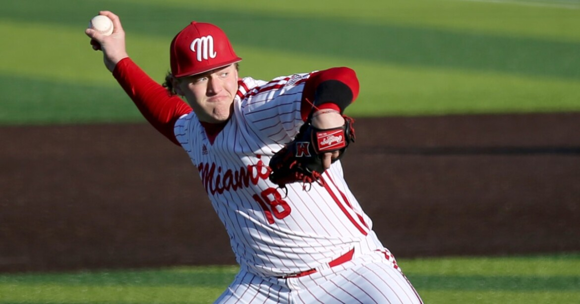 Angels select Miami (Ohio) pitcher Sam Bachman ninth overall in MLB draft