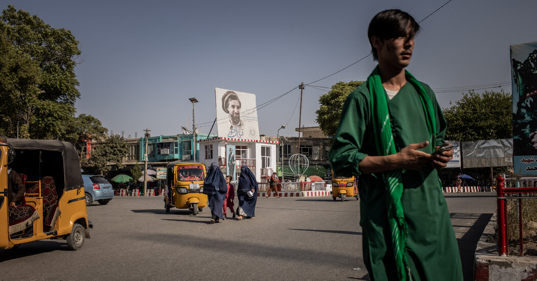 Fear and Misery in an Afghan City Where Taliban Stalk the Streets