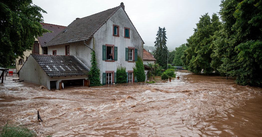 Deadly Flooding Rips Through Western Europe, Leaving Dozens Stranded