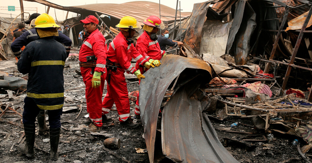 Iraqi Authorities Revise Down Death Toll in Covid Hospital Fire