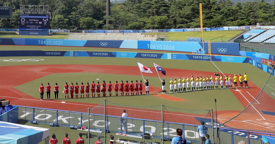 The Japanese softball team scores a victory to start off the Games.