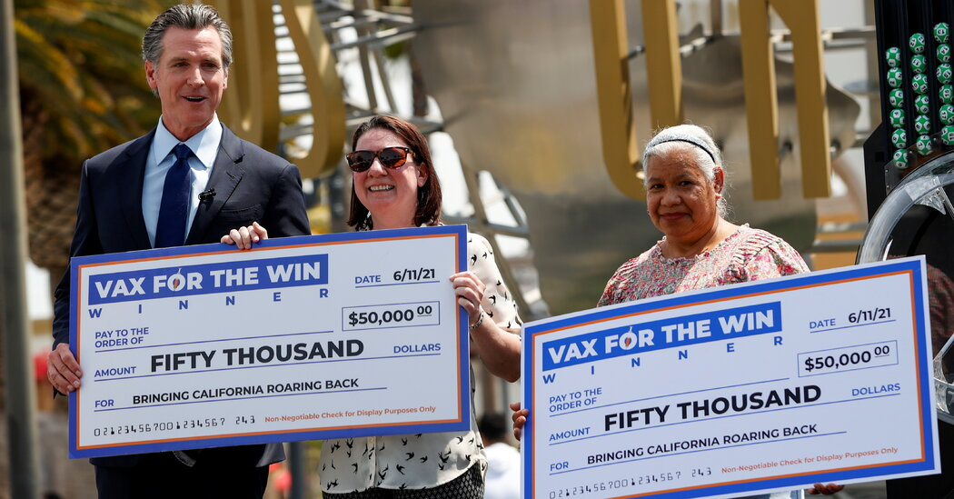 These Are the States Trying Covid Vaccine Lotteries