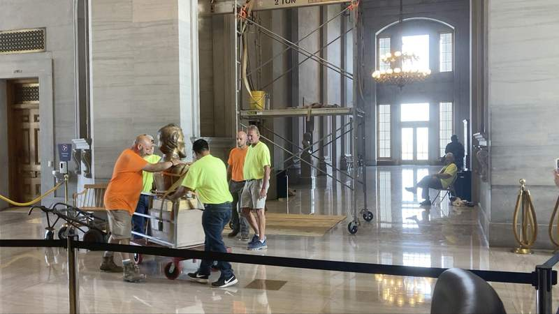 Confederate bust moved from Tennessee Capitol building