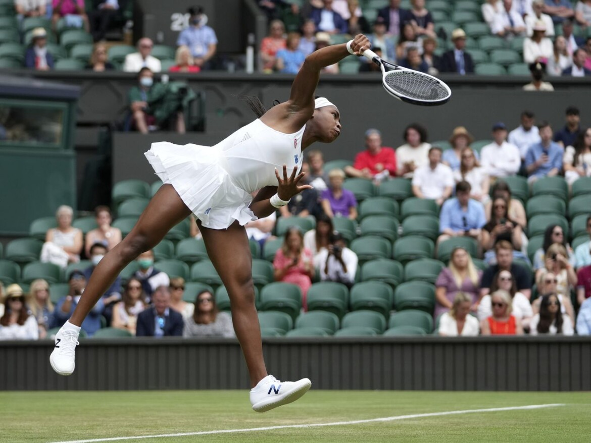 Back at Wimbledon Centre Court, Coco Gauff makes strong impression