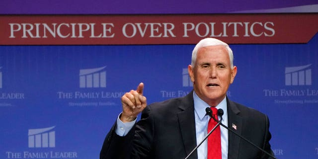 Pence, in Iowa, charges Biden trying to turn America into a 'secular welfare state'