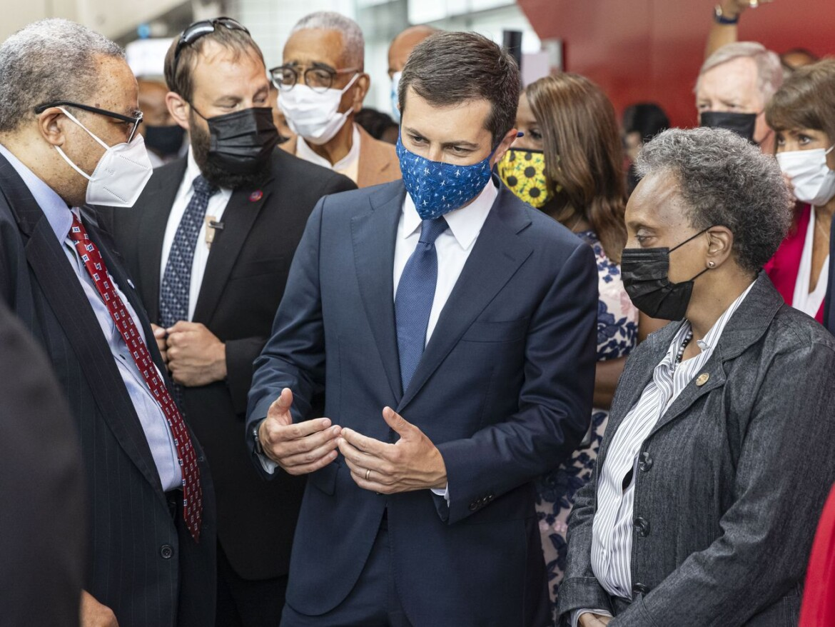 Transportation chief Buttigieg stops in Chicago to keep infrastructure plan on track before 'twists and turns' ahead