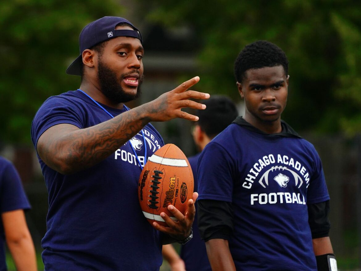 Chicago Academy football coach Anthony Dotson finally finds his place