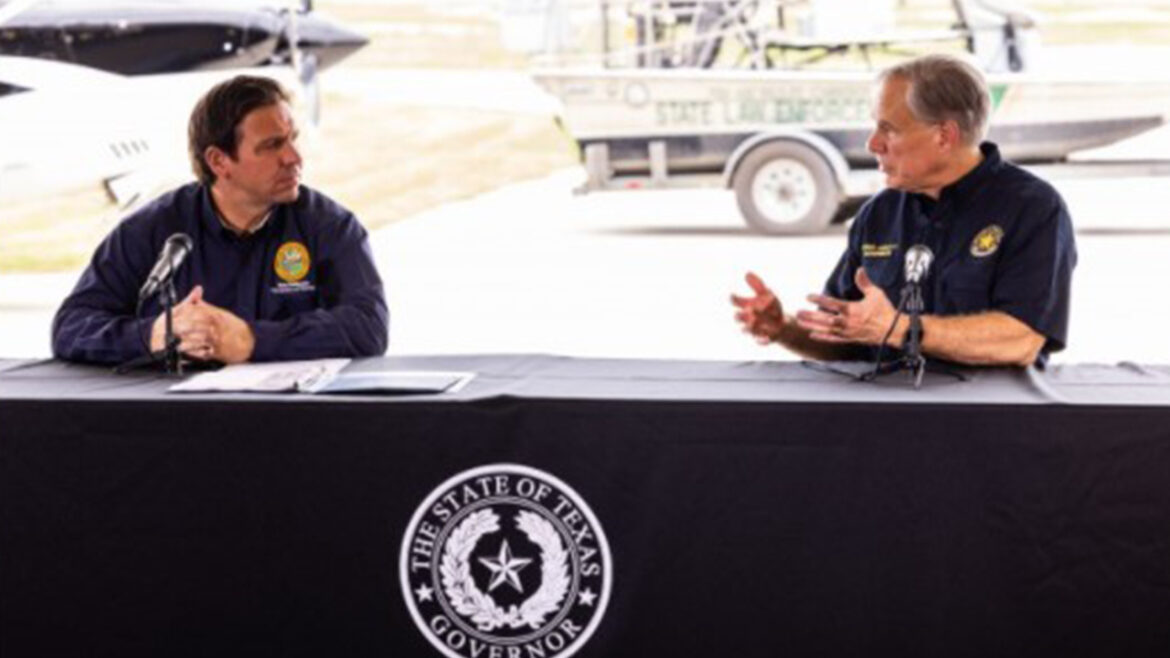 Govs. DeSantis and Abbott, in border visit, warn migrant crisis ripple effect on other states