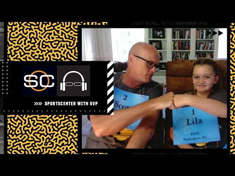Scott Van Pelt and his daughter Lila see who is the better speller in the family 🍿    #SpellingBee