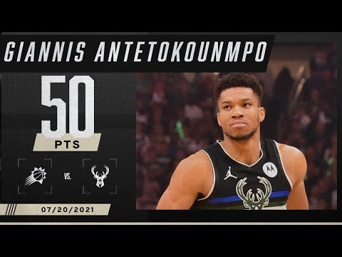 Giannis becomes 2nd player EVER with 50-point #NBAFinals closeout game 🦌