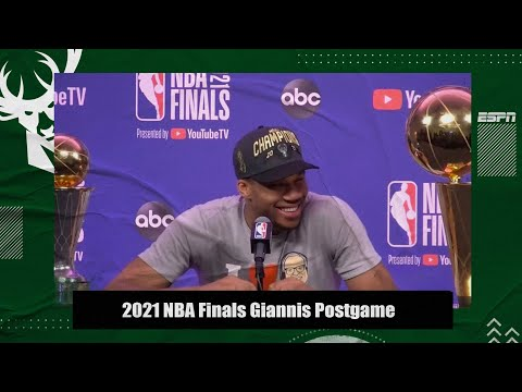 Giannis Antetokoumpo's postgame press conference after winning the 2021 NBA Finals | ESPN