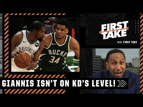 'He's not Kevin Durant, let's stop that right now!' – Stephen A. on Giannis vs. KD | First Take
