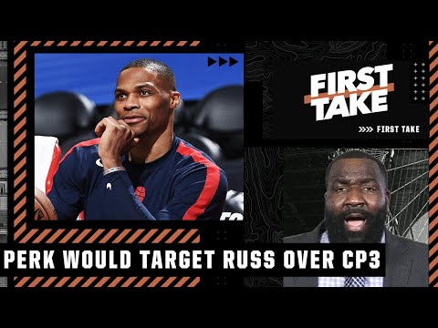 The Lakers should target Russell Westbrook over Chris Paul – Kendrick Perkins   First Take
