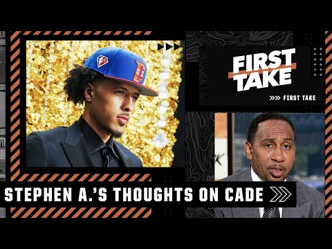 Stephen A.'s biggest concern with Cade Cunningham's game   First Take