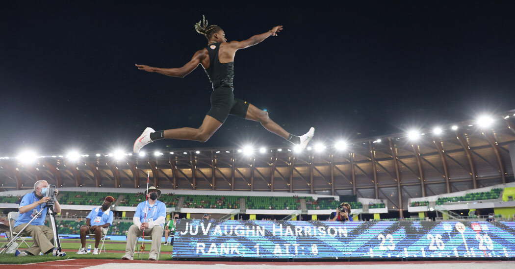 JuVaughn Harrison Makes a Run, and Two Jumps, at Olympic History