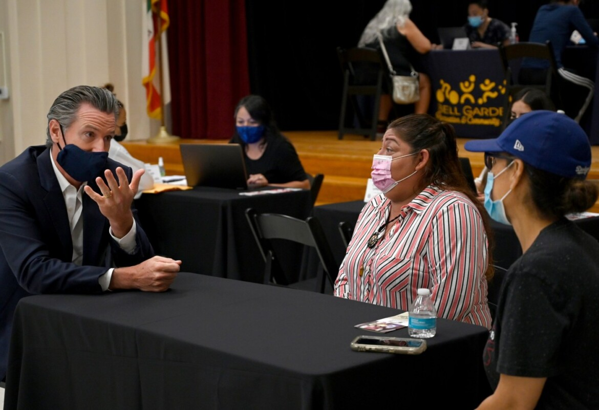 In Bell Gardens, Gov. Newsom, local officials push rent relief for people affected by COVID-19
