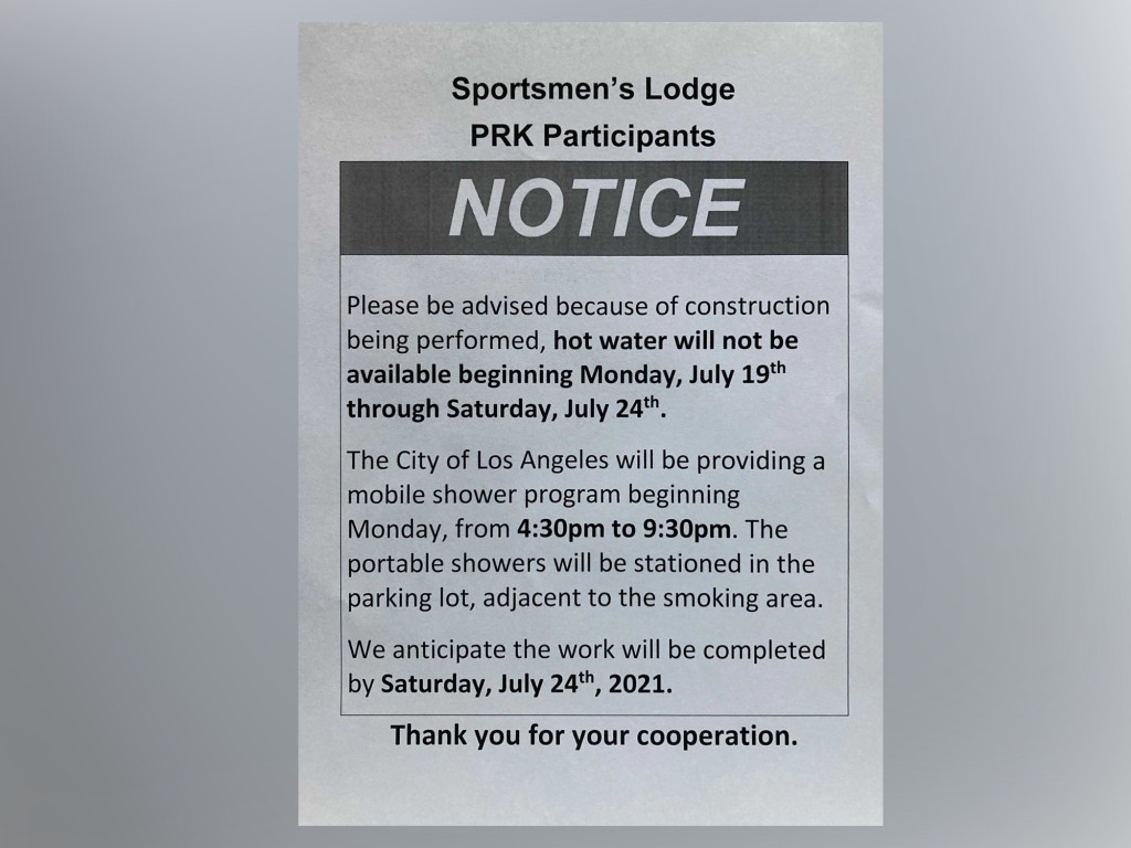 Homeless at Studio City Sportsmen's Lodge ask to stay rather than move to congregate shelters