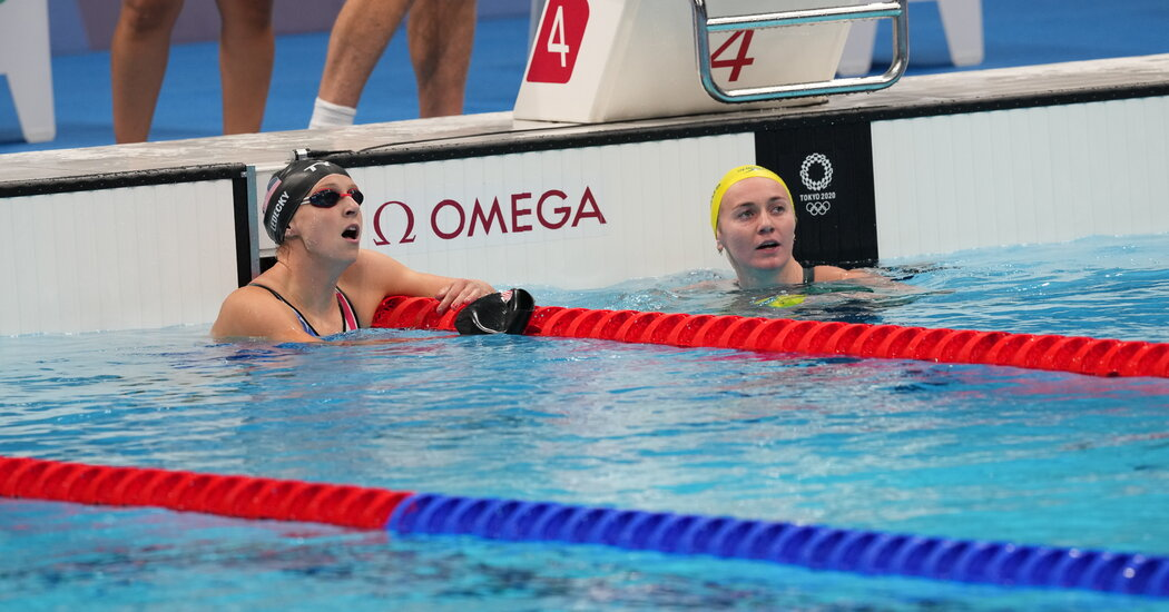 Ledecky and Titmus Meet Again. This Time in the 4×200-M Swimming Free Relay.