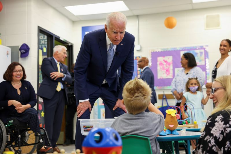 Biden sees U.S. child tax credit as 'giant step' to counter poverty