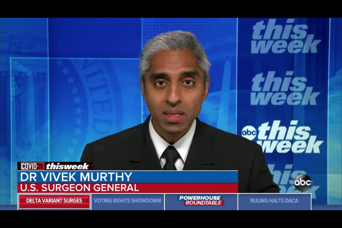 Surgeon General Is 'Deeply Concerned' About Dangers Unvaccinated Adults Pose to Kids Under 12