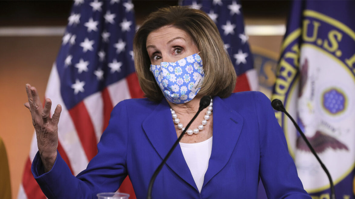 Pelosi removes mask in violation of Capitol Police guidance