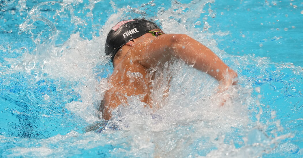 Robert Finke Wins the Men's 800-M Freestyle, the First at the Olympics