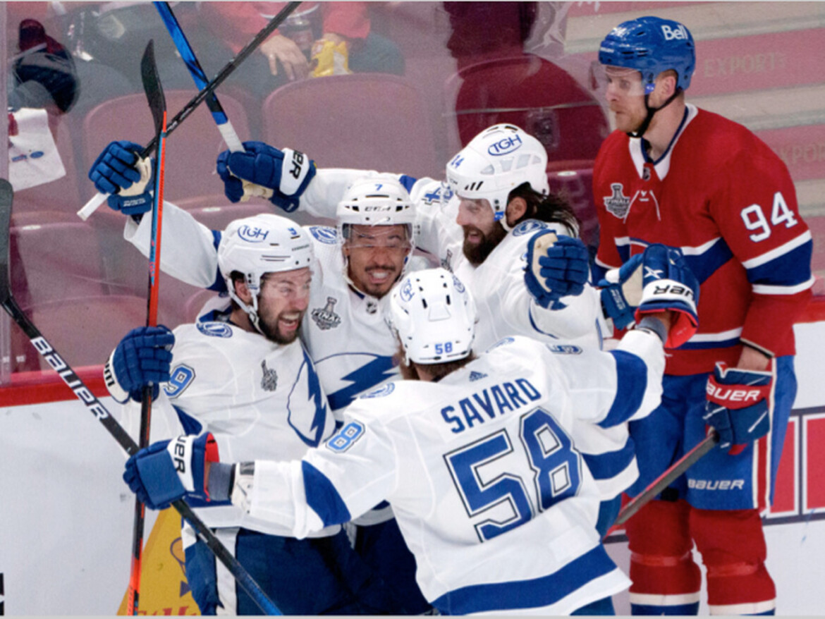Lightning rout Canadiens, move one win from defending Stanley Cup title