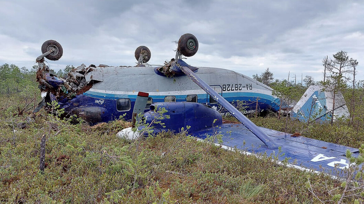 Small plane makes forced landing in Russia