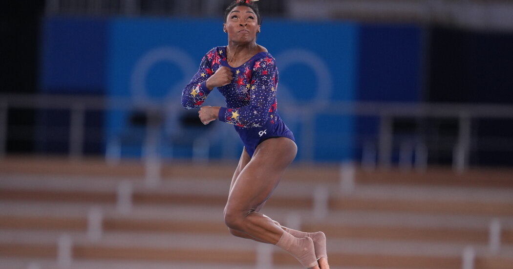 Simone Biles Has Tough (for her) Floor Exercise at Olympics