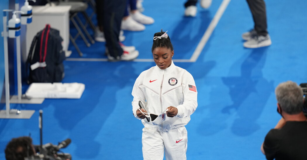 Simone Biles's Big Olympics Move: Showing Vulnerability, Discussing Mental Health