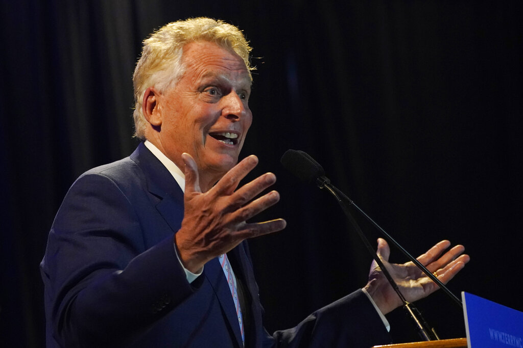 Virginia's McAuliffe touts endorsement from group that supports defunding police, abolishing prisons