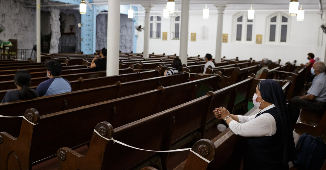Houses of worship struggle with fear of Delta's rise within their congregations.
