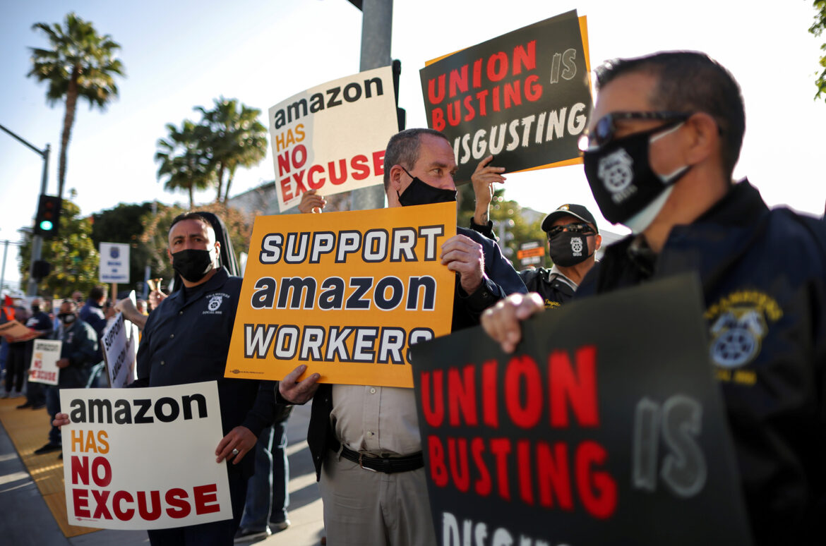 Labor official calls for new vote in Amazon union election